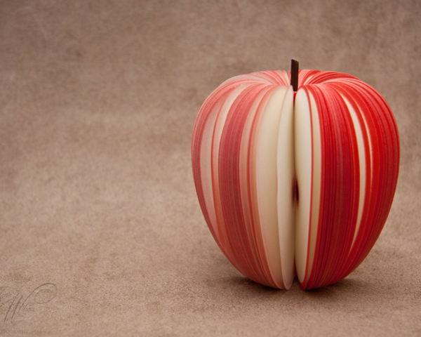 abstract fruits composition idea apples Wallpaper