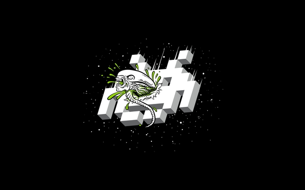 space invaders alien life forms Wallpaper
