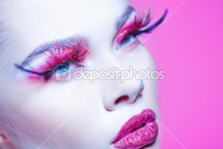 Close-up of beautiful woman face with Creative Fashion Art make | ???????? ???? © tarasla #8837712