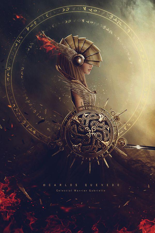 Celestial Warrior Gabrielle by Carlos Quevedo | Inspiration DE