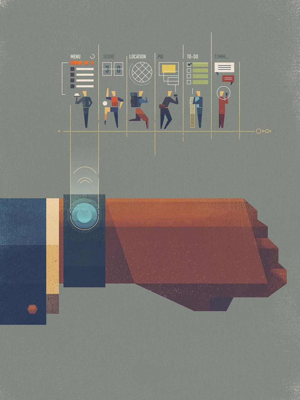 Wearables illustration by Dan Matutina | Inspiration DE
