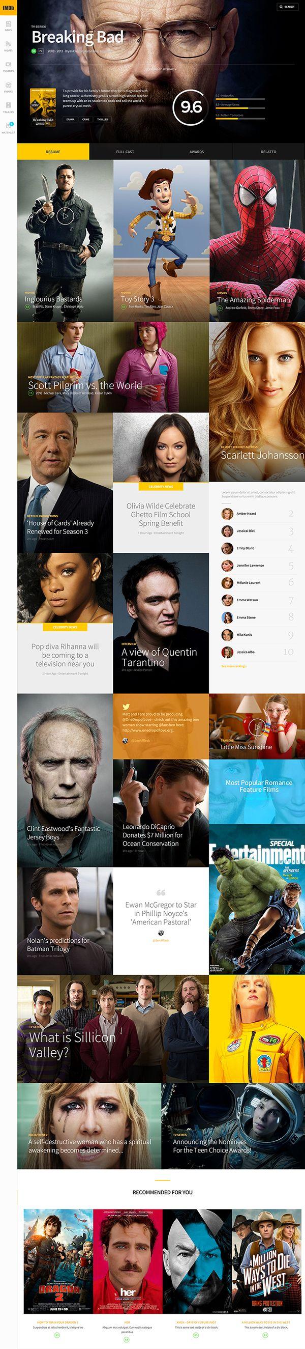 Prototype and new concept design for IMDb | Inspiration DE
