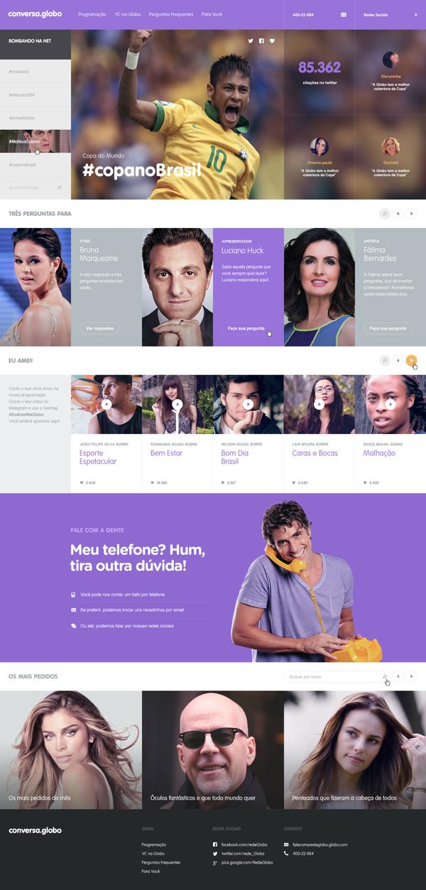 Conversa.Globo on Web Design Served | Inspiration DE