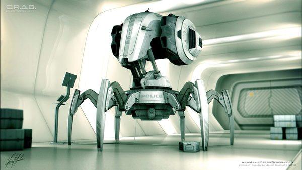 C.R.A.B. ROBOT - concept design on Industrial Design Served