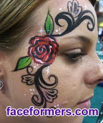 rose on face - ????? ? Google