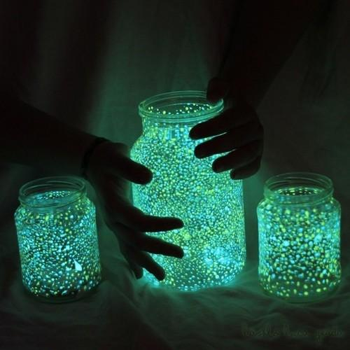For those crafty moments / how to make glowing jars