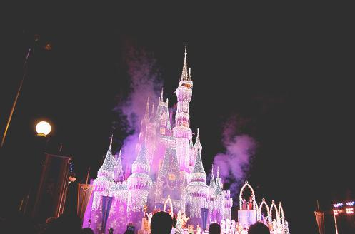disneyland, fairy lights, glow, lights, night - inspiring picture on Favim.com