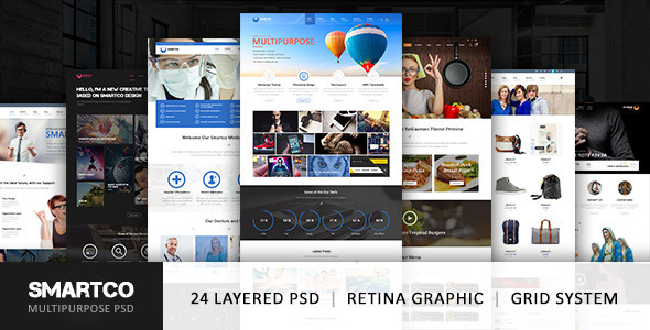 PSD Templates - SmartCo Multipurpose PSD Template | ThemeForest