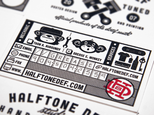 Halftone Def Business Cards - FPO: For Print Only