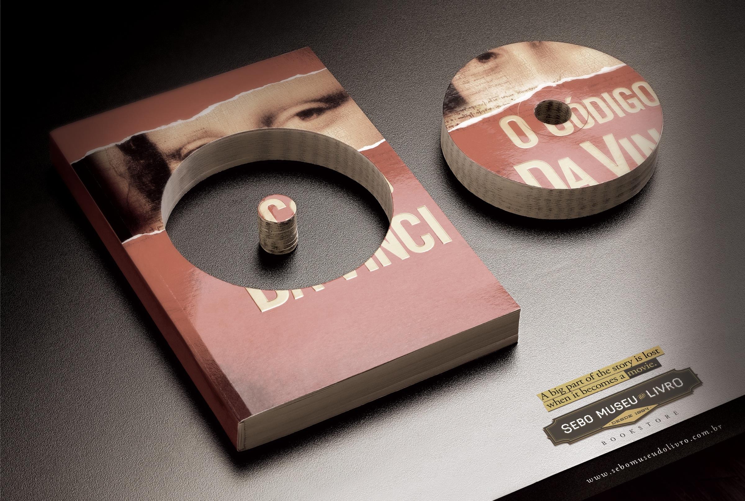 Sebo Museu Do Livro: The Da Vinci Code   Ads of the World™