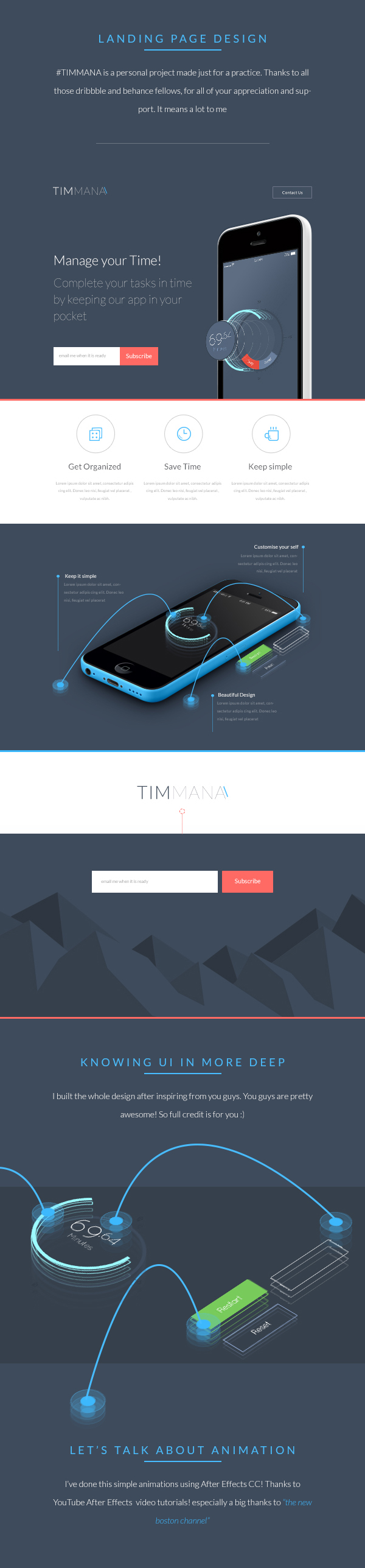 TIMMANA - App Landing Page on