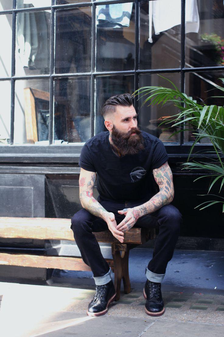 Beard Style Tattoo Men Style Tattoo Beards Long Hair Art