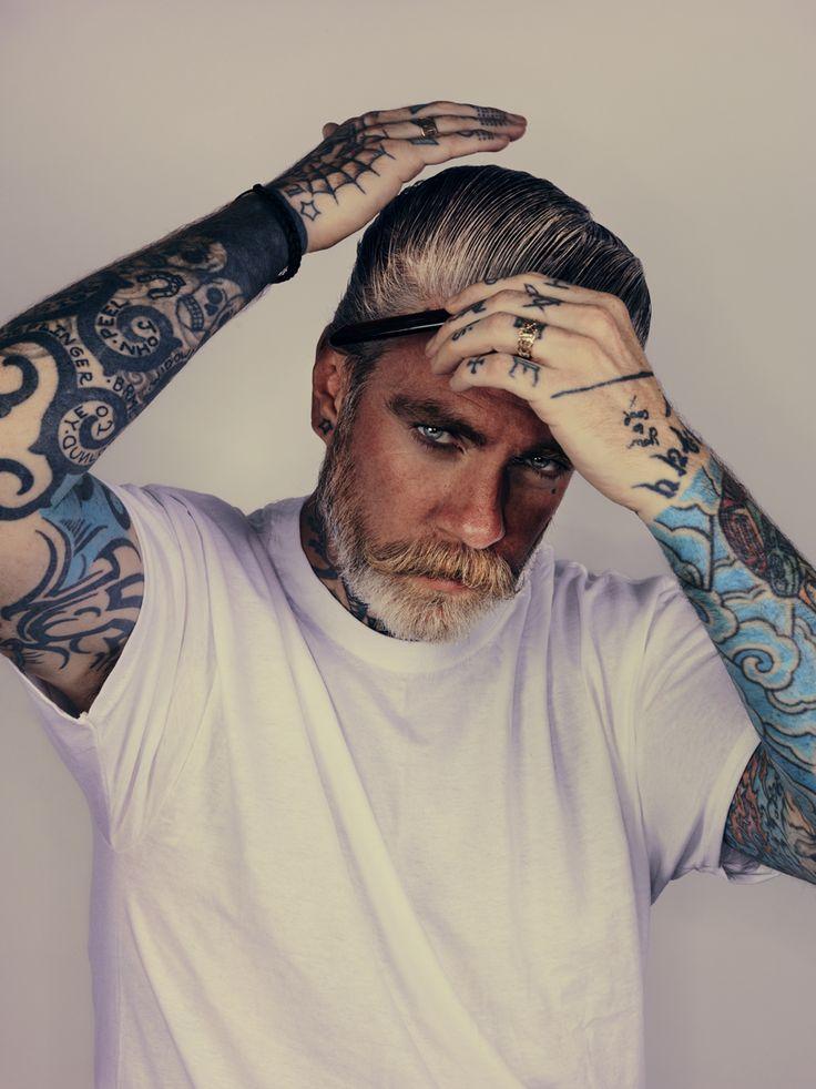 Tattoo Beard Men Style Tattoo Beards Long Hair Art