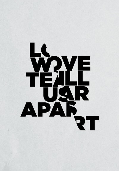 LOVE WILL TEAR US APART Art Print by Three of the Possessed on Inspirationde