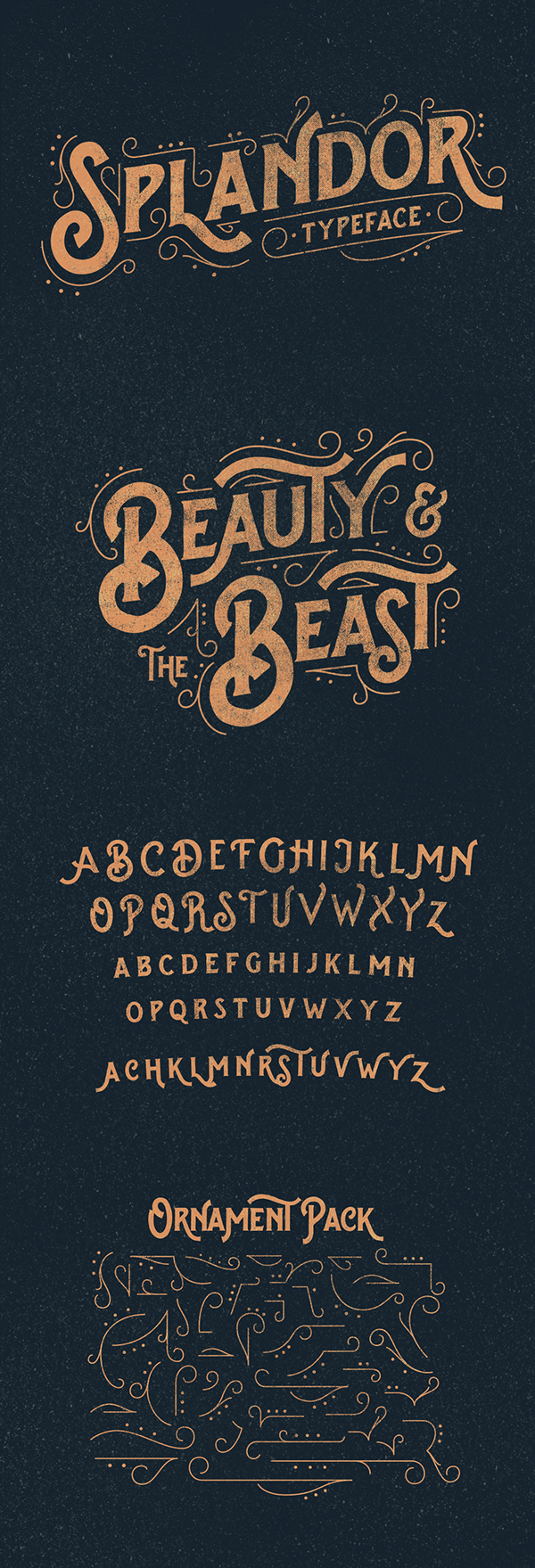 Splandor Typeface by Ilham Herry on Inspirationde