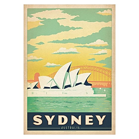Sydney Anderson Design Travel Print Art by Americanflat | Zanui