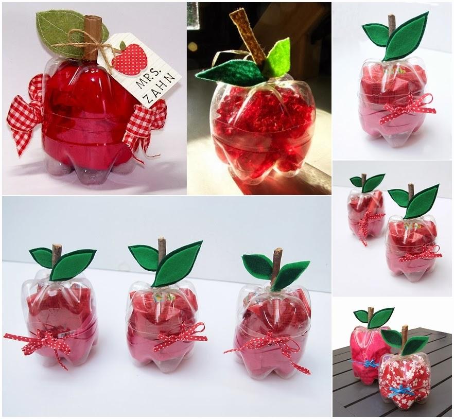 Яблоко из пластиковой бутылки своими руками 74