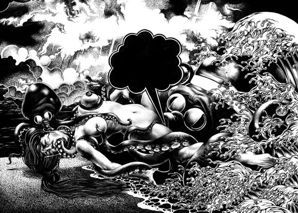Juxtapoz Magazine - Bizarre Illustrations by Shohei Otomo