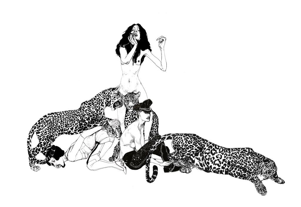 Juxtapoz Magazine - Mina-Milk's Fetish Drawings