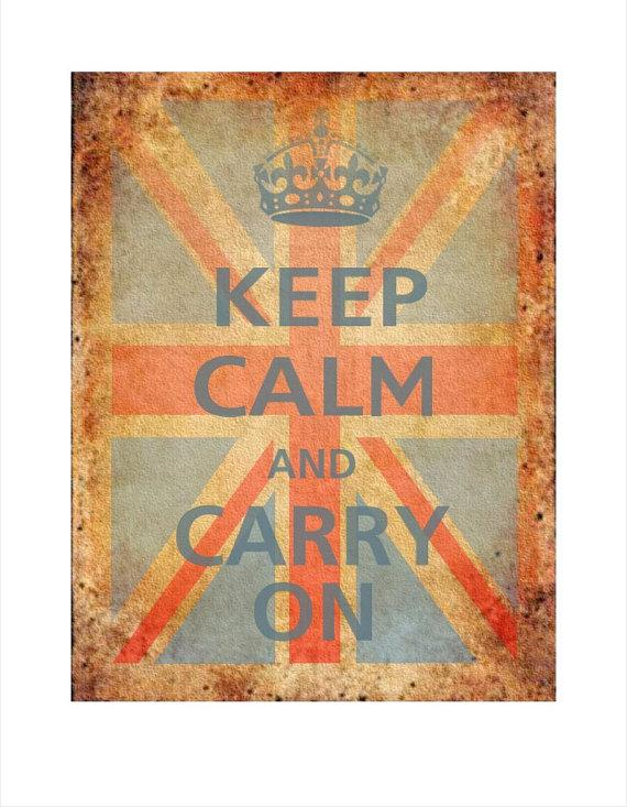 Keep Calm and Carry On Poster 11x14 British Flag by PosterPop