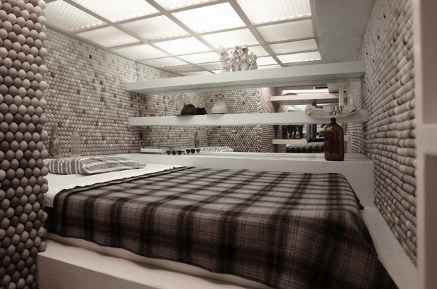 Apartment With 25,000 Ping Pong Balls On Its Walls | Interior Design, Interior Decorating Ideas, Architecture