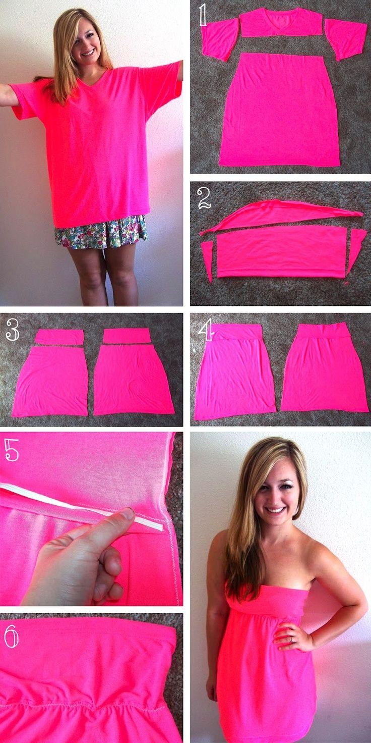 Как сшить платье без бретелек Мастер-класс - Ручная 65