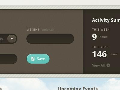 Dashboard for an excercise tracking website by John Furrow