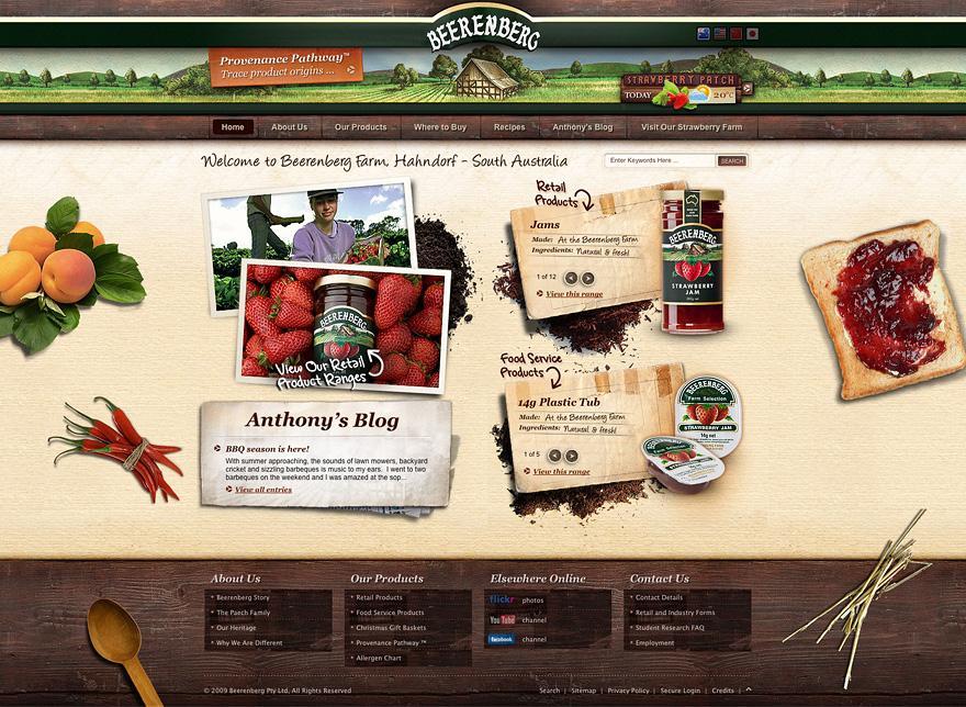 Beerenberg Farm - HTML / CSS - Creattica