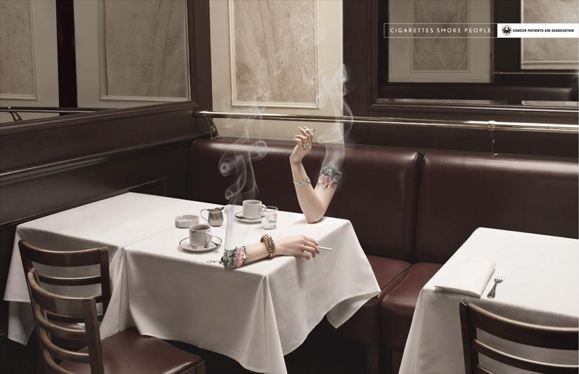 Smoking Arm - Advertising - Creattica