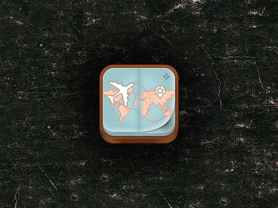 iPhone Travel App Icon #2 by Jason Yoo