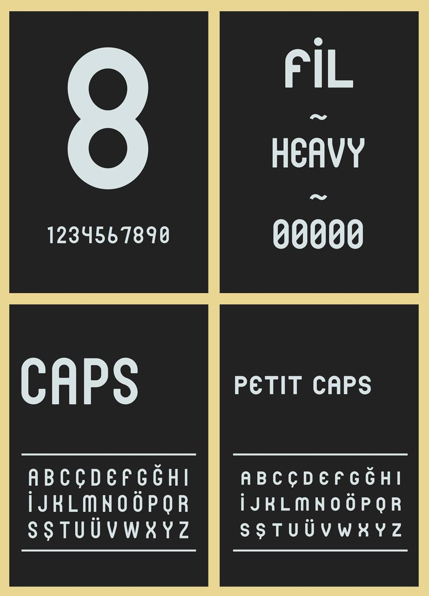 Fil - Typeface - Typography - Creattica