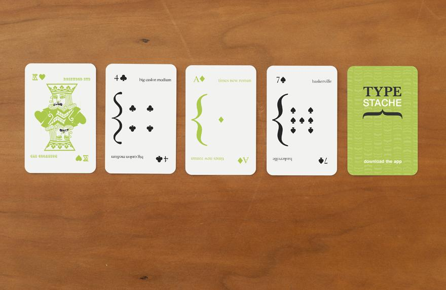 Typestache Playing Cards - Typography - Creattica
