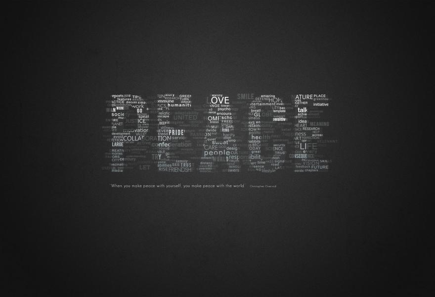 Peace - Typography - Creattica