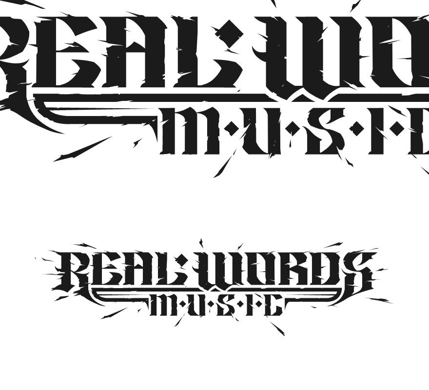 Real Words Music - Typography - Creattica
