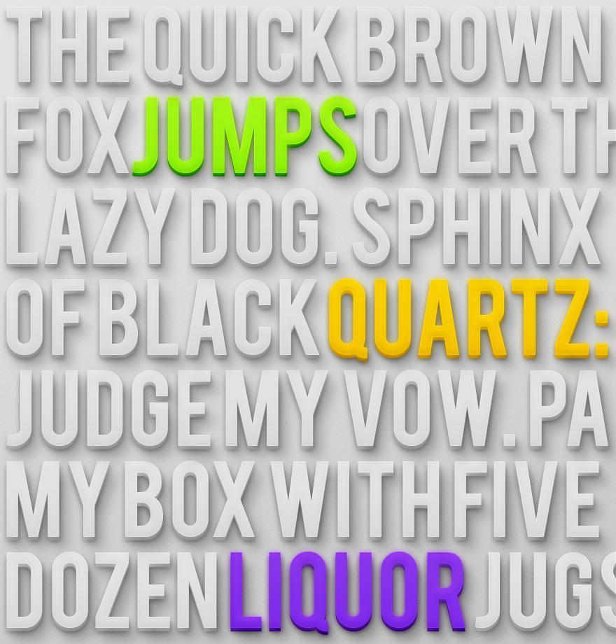 3D Text Styles - Typography - Creattica
