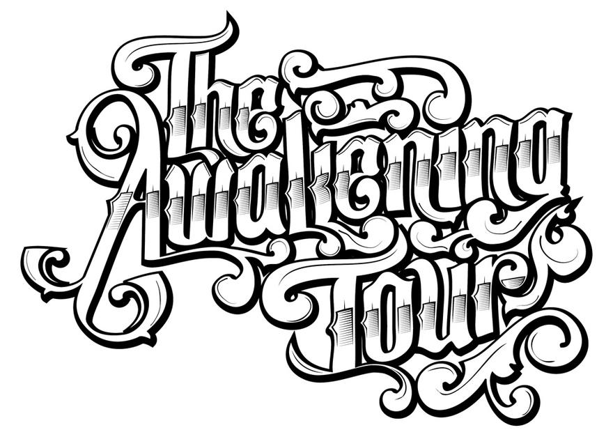 The Awakening Tour - Typography - Creattica