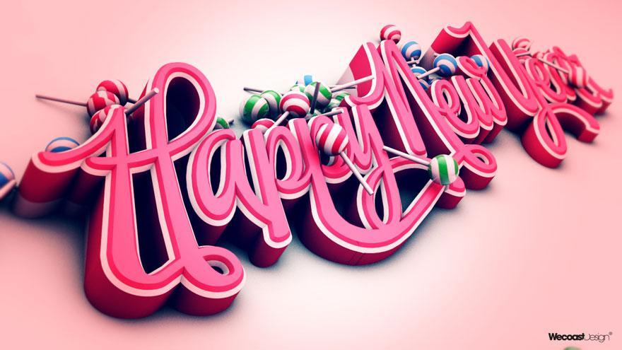 Happy New Year 2011 - Typography - Creattica