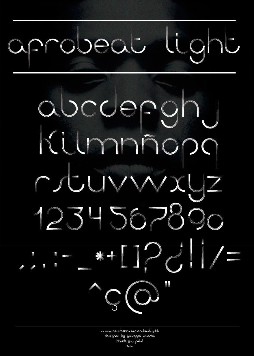 Afrobeat Light - Typography - Creattica