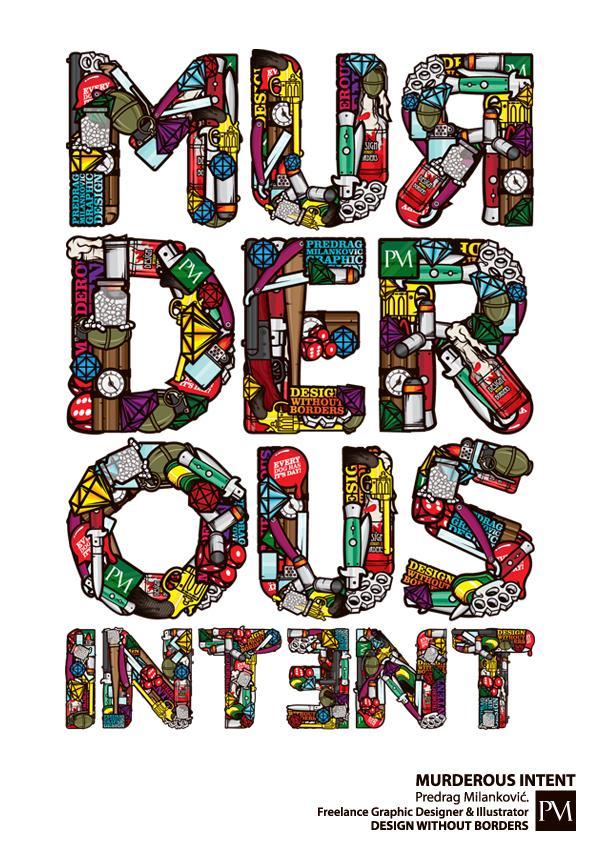 Murderous Intent - Typography - Creattica