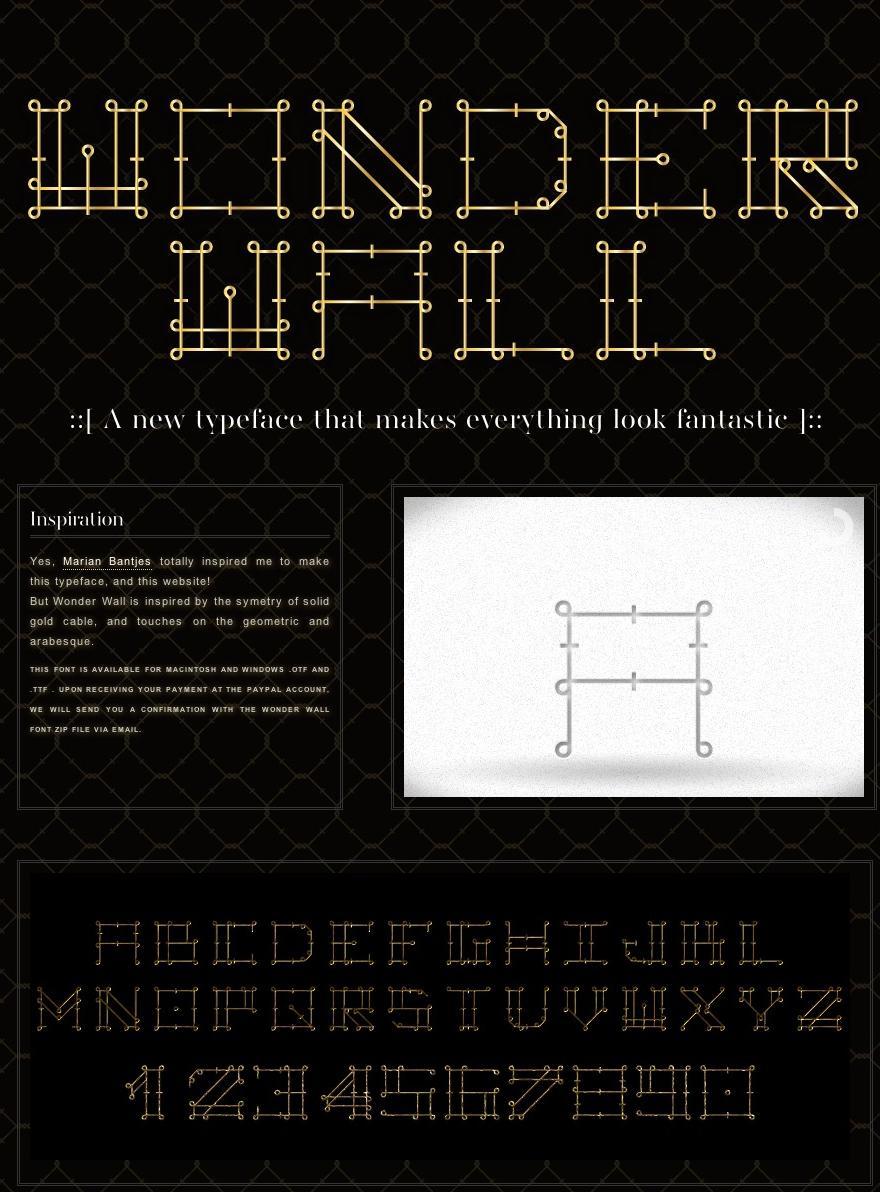 Wonder Wall Font - Typography - Creattica