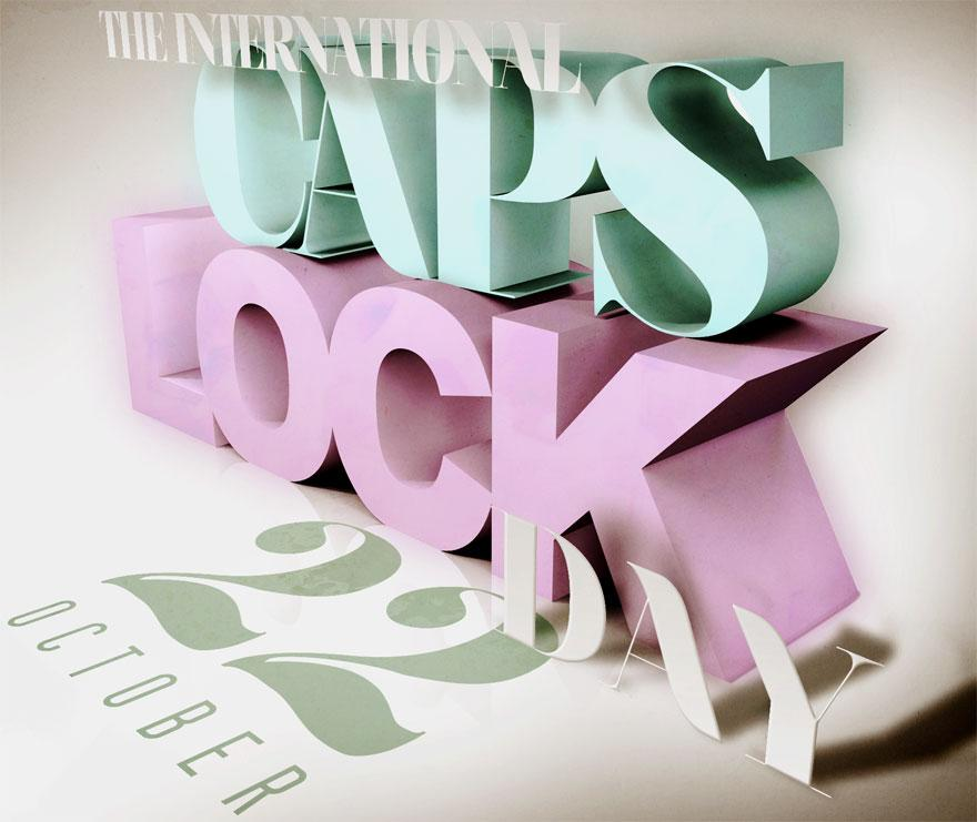 CAPS LOCK DAY SALUTE - Typography - Creattica