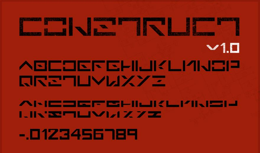 Construct Font, download for free. - Typography - Creattica