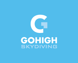 Go High Skydiving - Logos - Creattica