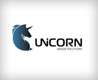 Unicorn - Unique Solutions - Logos - Creattica