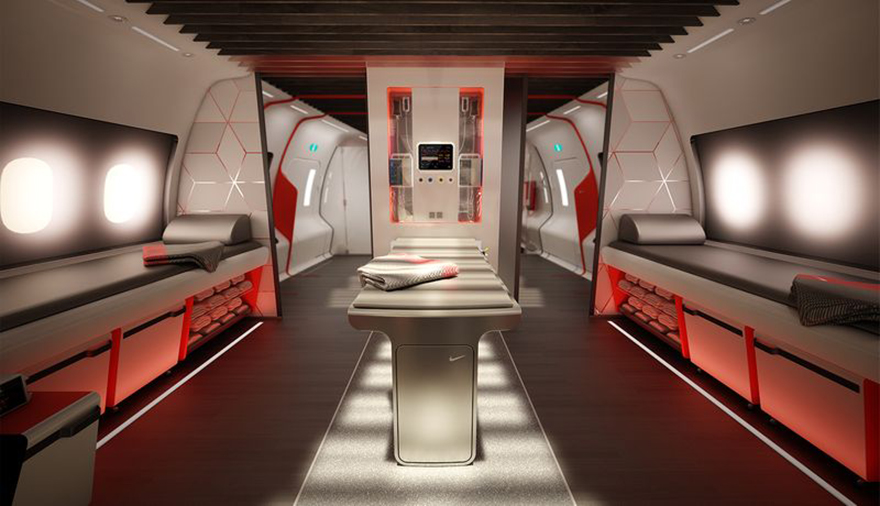 What Would an Airplane Designed Specifically for Pro Athletes Look Like? Teague and Nike Show Us - Core77