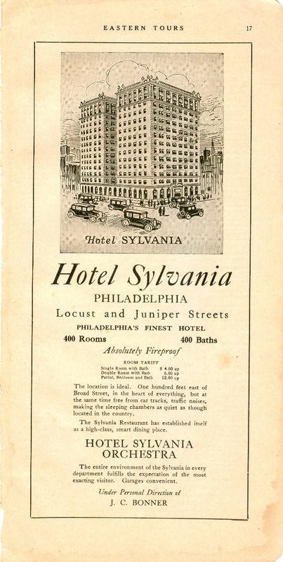 1928 Ad Hotel Sylvania Philadelphia Pennsylvania | eBay