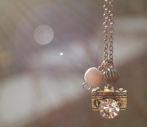 camera, cute, necklace, pink - inspiring picture on Favim.com