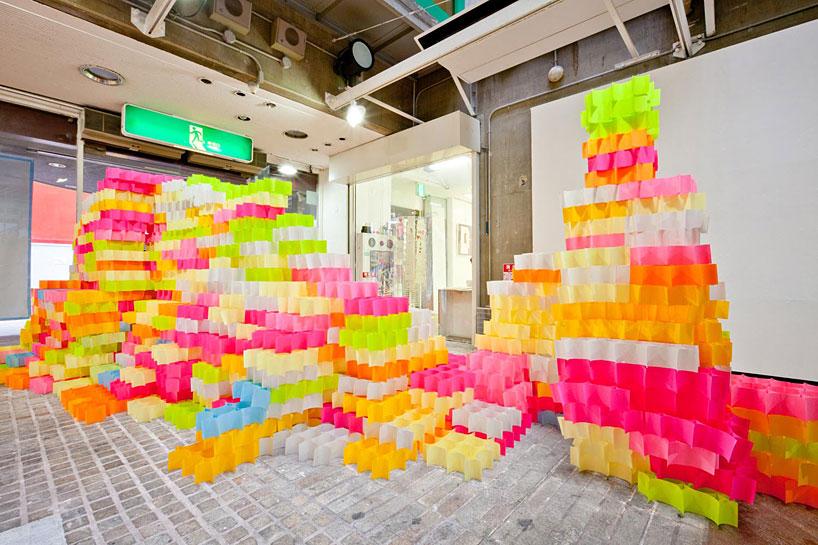 yo shimada: post-it structures