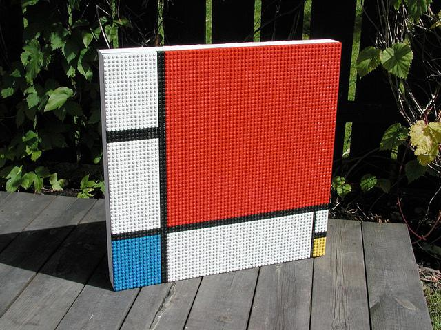 Parafrases of Mondrian made with LEGO© by Per Nylén | Flickr - Photo Sharing!