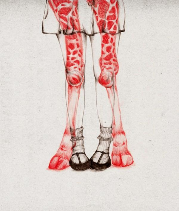 Peony Yip Animal Morphing Illustrations | Trendland: Fashion Blog & Trend Magazine